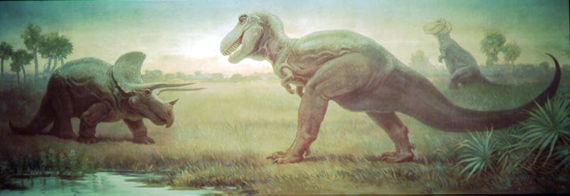 Tyrannosaurus and Triceratops, by Charles Knight