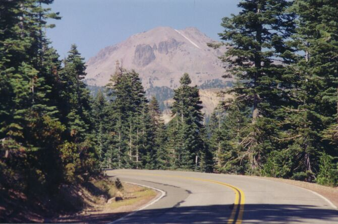 Lassen Peak from a distance
