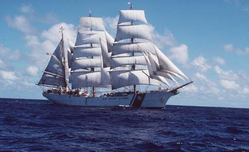 The US Coast Guard training ship USS Eagle